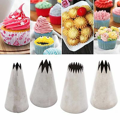 Best New Large Open Star Icing Piping Nozzle Cake Decorating Pastry Tips Tool