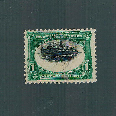 1901 PAN-AMERICAN EXPO Stamp-Major Shifted Printing-Interesting Variety