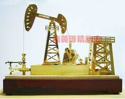 NEW Oil Well Pump Jack Gold Model Commemorative Edition +Small gifts