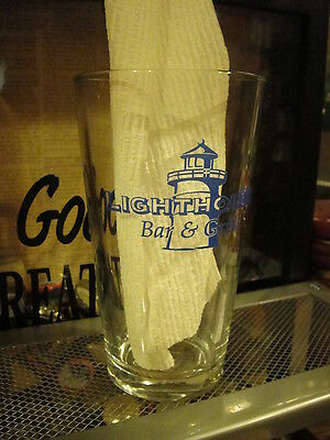 LIGHTHOUSE BAR & GRILLE Beer Pint Glass EUC K