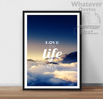 YOLO POSTER Unique Design Gift Idea WALL ART A4 PRINT You Only Live Once