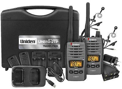 Uniden Uh810S-2Tp 1W Tradie Pack Twin Pack 80Ch Uhf Radios