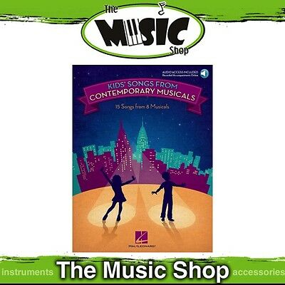 New Kids' Songs from Contemporary Musicals Vocal Music Book with Online Audio