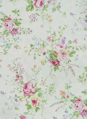 Patchwork Quilting Fabric FLORAL COLLECTION Sewing Material Cotton FQ 50X55cm
