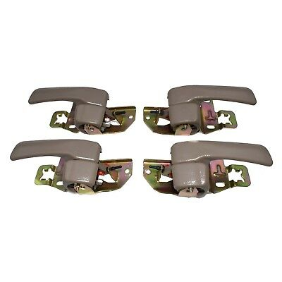 4pcs Door Handles Inner Beige Tan Left Right for 92 93 94 95 96 Toyota Camry New