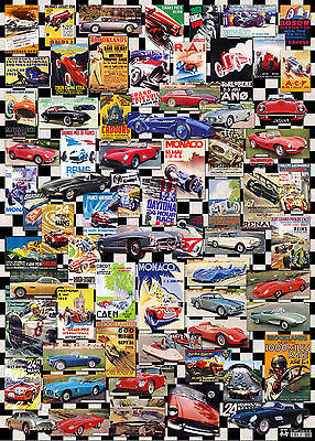 RetroCards Vintage Sport Cars Flat Wrap