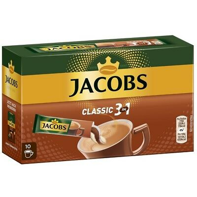 JACOBS - 3 in 1 - Instant coffee and Milk and sugar - 10 sachets  German Product