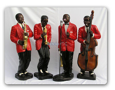 Blues Swing Band Jazzband Deko Jazz Band Musiker Figur Figuren Statue Deko Usa