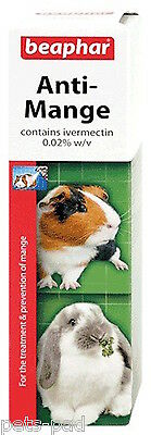 Beaphar Anti-Mange Spray, Ivermectin Spray for Rabbits, Guinea Pigs, 75ML