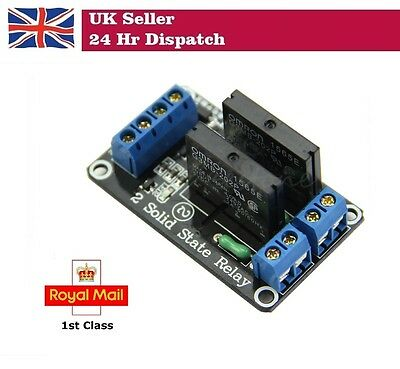 5V 2 Channel Solid State Relay SSR Module for Arduino Raspberry Pi