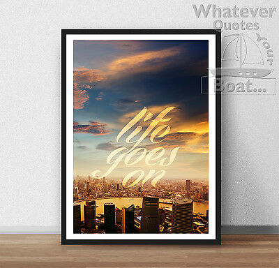Life Goes On Quote Removable Vinyl Wall Decal Stickers Home Decor