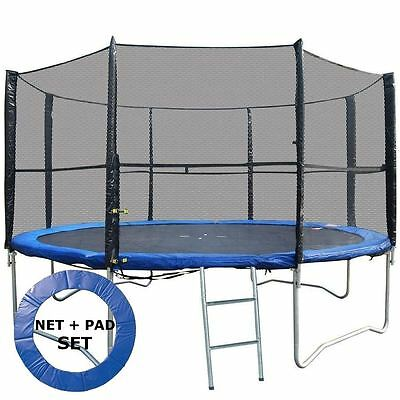 BodyRip SET OF TRAMPOLINE PADDING + SAFETY NET 10FT REPLACEMENT PADDING MAT PAD