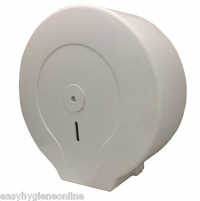 COMBO Mini and JUMBO dispenser White Plastic Toilet Paper large Roll lockable