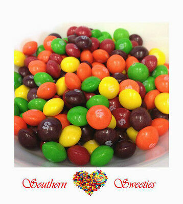 Skittles Fruits 1Kg Colourful Rainbow Lollies Red Green Black Orange