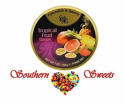 Cavendish and Harvey Tropical Fruit Drops 10x200g C&H candy lollies