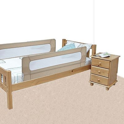 Safetots Extra Wide Double Sided Mesh Bed Rail Natural - Child Bed Guard