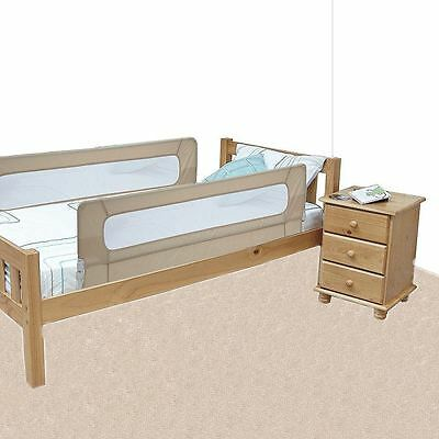 Safetots Extra Wide Double Sided Mesh Kids Bed Rail Toddler Bed Guard Natural