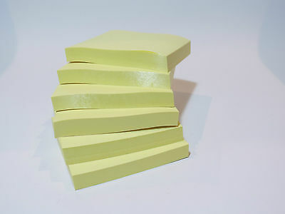 4 8 12x | 100 pieces each of Yellow Post-it brand Notes 76 x 76mm | Office use