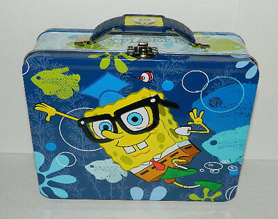 SpongeBob SquarePants Large Carry All Tin Tote Lunchbox Style A, NEW UNUSED