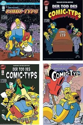 SIMPSONS Der Tod des Comic-Typs #1 VARIANT-SET lim.333 Ex. sign. BILL MORRISON