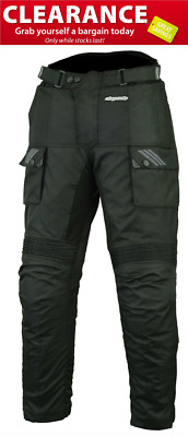 RKsports Storm-3 Motorcycle motorbike Black Trouser  with CE armour Cordura