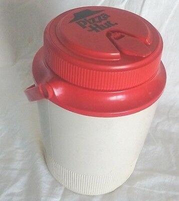 Vintage Pizza Hut Thermos Red Lid Holds 64oz Large Handled