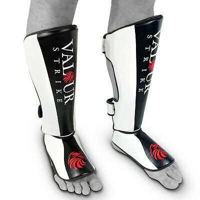 Muay Thai Kickboxing Shin Guards Leg Instep Pads MMA Foot  Boxing Protector