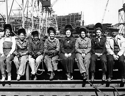 "1943 Women Welders During WWII Vintage Photograph 8.5"" x 11"" Reprint"