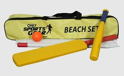 OSG Rounders Blaze Bat, Cricket Bat, Softball, Stumps Beach Set Family Game