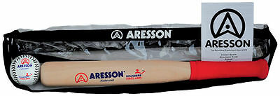 New Aresson Autocrat Rounders Bat & Ball Pack Outdoor Games Fun Starter Set
