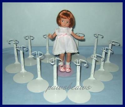 "12 White Kaiser Doll Stands for 8"" SHIRLEY TEMPLE  9"" Patsyette U.S.SHIPS FREE"