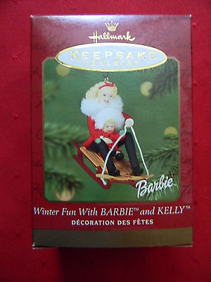 Hallmark Keepsake Ornament Winter Fun With Barbie And Kelly