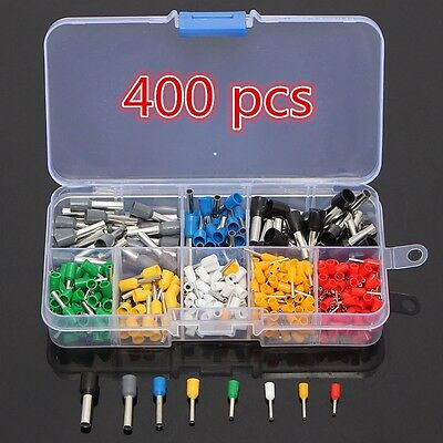 400 pcs  Wire Copper Crimp Connector Insulated Cord Pin End Terminal