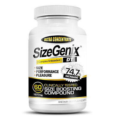 SizeGenix (60 Capsules) Clinically Tested Boost in Size, Performance, & Pleasure