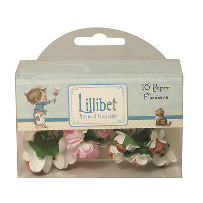 Pack 16 Beautiful Lillibet Paper Flowers – Pink  for cards and crafts
