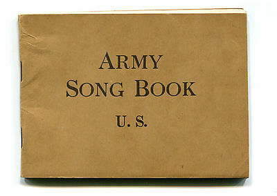 Vintage WW1 ARMY SONG BOOK US music War Department Commission World War 1 USA