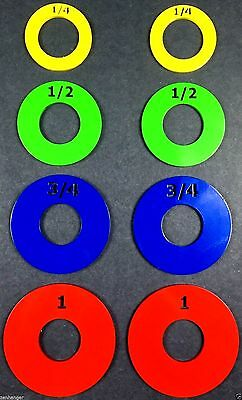 """Olympic fractional weight plates 2"""" MicroLoading 1/4, 1/2, 3/4, 1 pound fraction"""