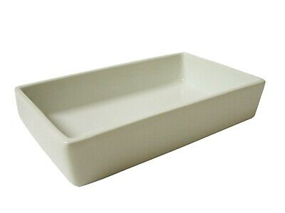 (25591) Bandeja Rectangular Borde Porcelana Blanco
