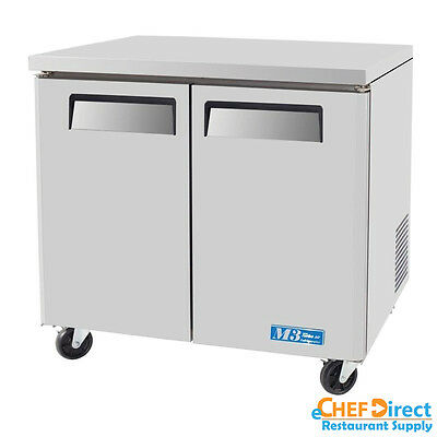 "Turbo Air MUR-36 36"" Double Door Undercounter Refrigerator"