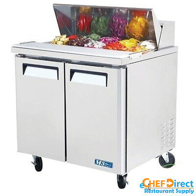 "Turbo Air MST-36 36"" Double Door Standard Top Sandwich Prep Table"