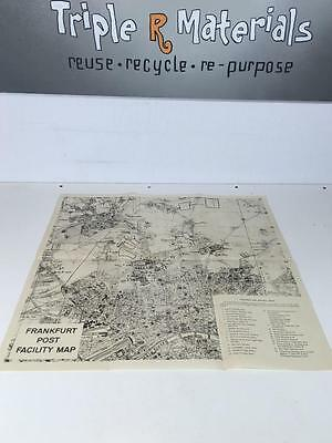 map of GERMANY FRANKFURT post facility map collectible