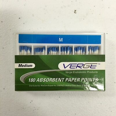 Absorbent Paper Points (Qty 180) Medium, M - Verge Endo Dental Kit