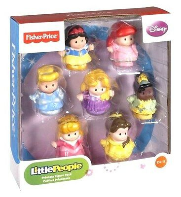 Brand New Fisher-Price Little People Disney Princess Figure Pack - 7 Princesses