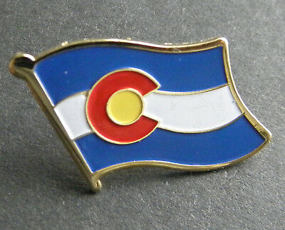 Colorado Us State Single Flag Lapel Pin Badge 3/4 Inch