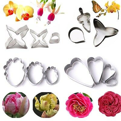 Stainless Steel Mold Flower Petal Biscuit Fondant Cake Cookie Cutter Baking Mold