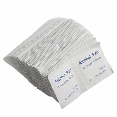 Alcohol Wipe Pad Medical Swab Sachet Antibacterial Tool Cleanser 100PCS LO