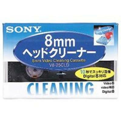 New SONY V8-25CLD Hi8/Digital8/8mm Video Head Cleaning Cassette Japan