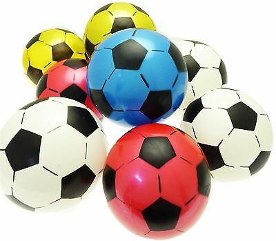 10 x Inflatable Football Sports Training Soccer Beach Ball Children Kids Toy
