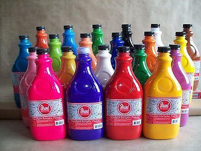Strand Student Acrylic Paint 10 x 2L - choose yours colours (freight in desc)