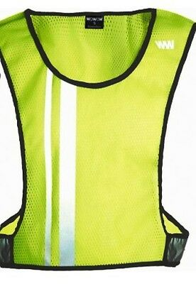 Wowow High Visibility Reflective Jacket Visible Wear Cycling Waistcoat Yellow